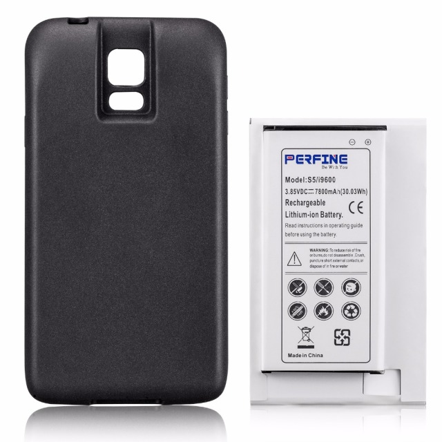 info for 71b3f b9606 US $24.35 16% OFF|7800mAh S5 Battery For Samsung Galaxy S5 i9600 Mobile  Phone NFC Extended Battery+Protective Case SM G900 EB BG900BBC Batteria-in  ...
