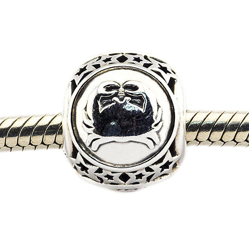 Charm Fit Original Pandora Bracelet Bead DIY Jewelry Cancer Star Sign 100% Real 925 Sterling Silver Charm Jewelry FL418