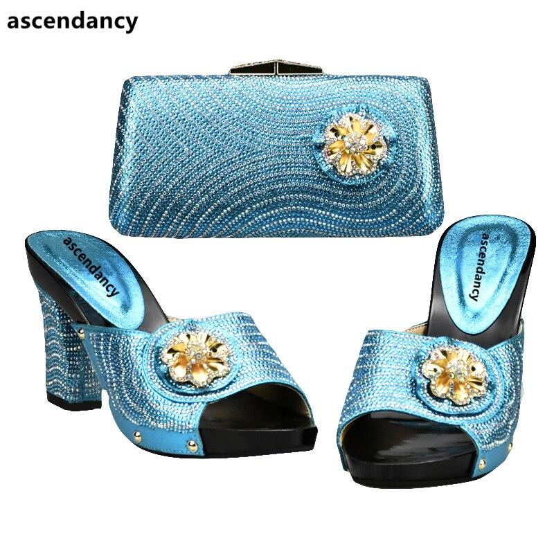 Tasche Letzten f passenden Schuh italienischen und Himmel blauen yI7vYbfg6
