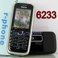 Original Nokia 6233 Mobile Cell Phone 3G Camera Bluetooth MP3 Origianl Unlocked Refurbished Black & Gift