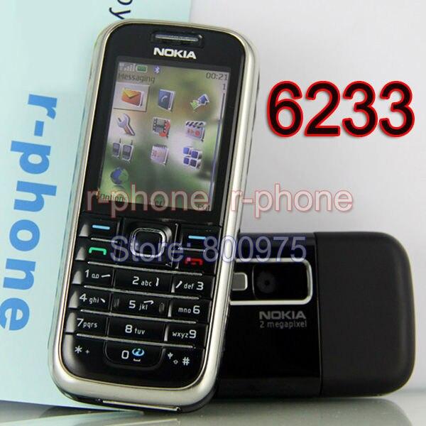 bilder für Original nokia 6233 mobile handy 3g kamera bluetooth mp3 origianl entriegelt refurbished black & geschenk
