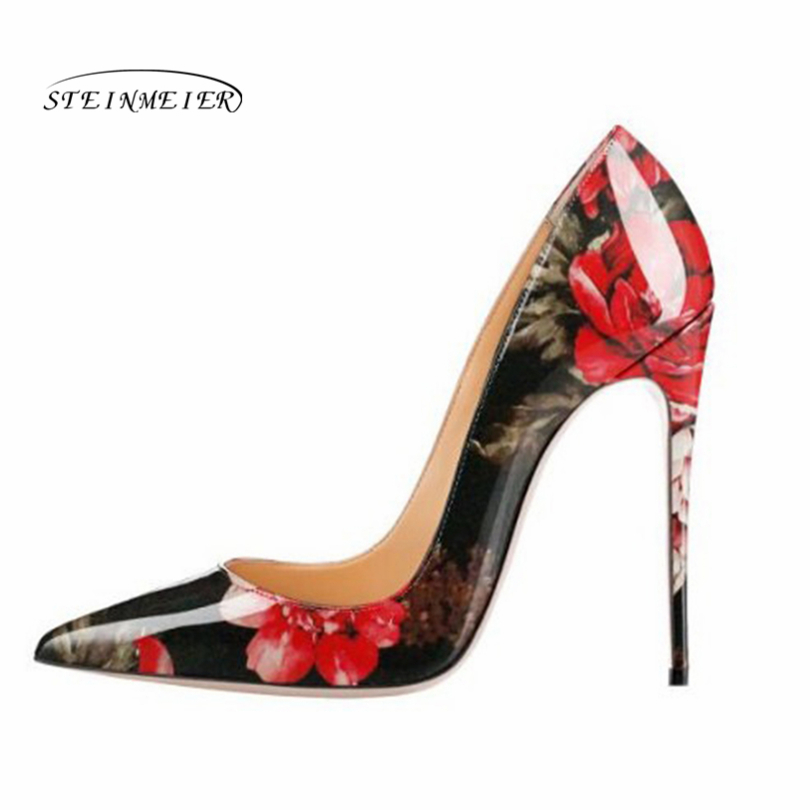Steinmeier Pumps Women Shoes 12cm 10cm 8cm Slip On Shallow red Wedding Party Pointed Toe High