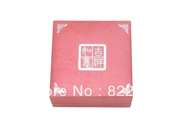 Wishful auspicious red pendant ring box set box  necklace bracelet earrings leather jewelry box packaging Custom LOGO