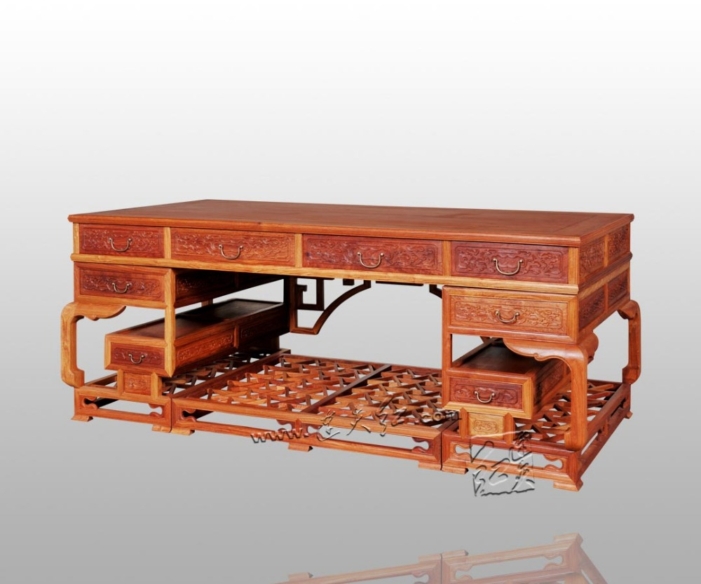 Ming and Qing Dynasties classical Chinese antique Writing desks solid wood Office computer Tables Rosewood carving Multifunction gre verbal and writing chinese edition