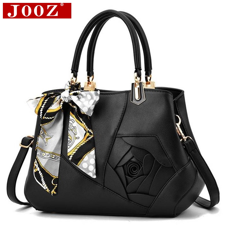 JOOZ Brand Designer Scarves Big Bags Women Patchwork Shoulder Flowers Bags Ladies Messenger Luxury Leather Handbags Mother bag цена 2017