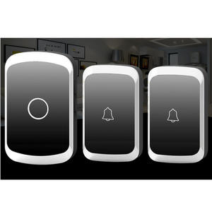 Wireless Doorbell Chime Ring-Receiver Remote-Control Waterproof Smart Home LED 300m-Range