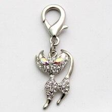 Pet  Dog rhinestones Cat charm Pendant Cat Puppy jewelry collar charm 3 colours