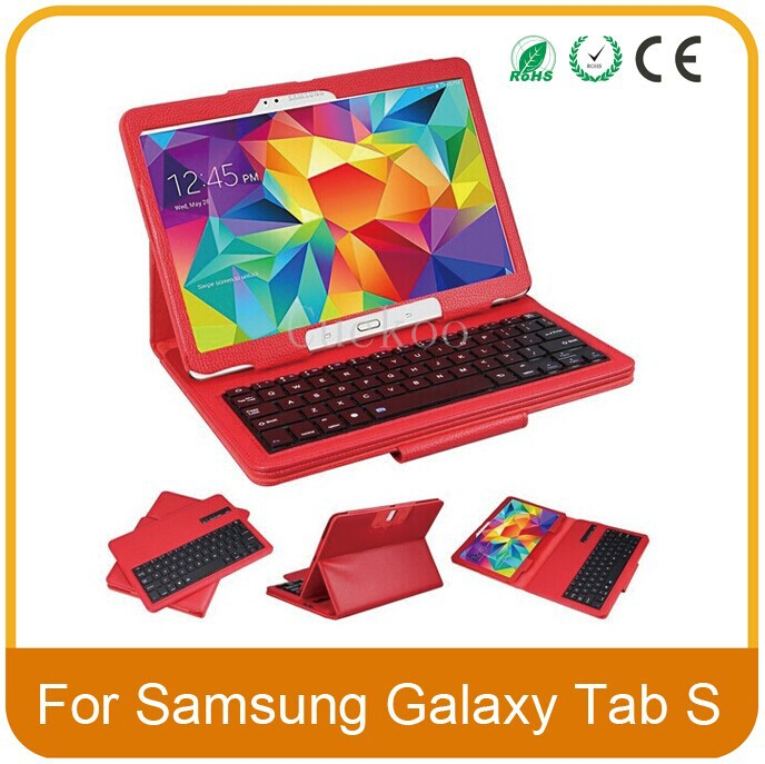ФОТО Removable Wireless Bluetooth Keyboard ABS Plastic Laptop Stylish Keys Case For Samsung Galaxy Tablet S 10.5 inch SM-T800