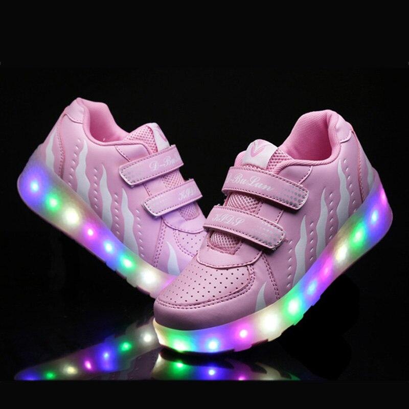 2019 子供ヒーリーズ led ライトスニーカー 1 二輪少年少女ローラースケートカジュアル靴とローラー子供の女の子スポーツ靴  グループ上の ママ & キッズ からの スニーカー の中 1