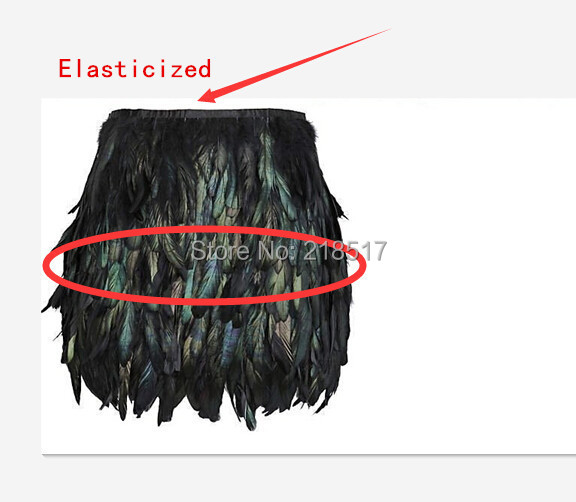 Aliexpress.com : Buy Black Swan Feather Skirt Mini Length Fully ...