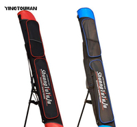 YINGTOUMAN 2Pcs/Lot Canvas Red and Black Blue and Black Fishing Bag Single Layer (without bracket) Double Layer (with bracket)