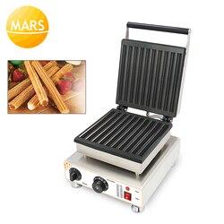 Commercial 110V 220V 10pcs Automatic Electric Baked Waffle Churro Maker Spain Churros Making Machine Iron Baker Oven