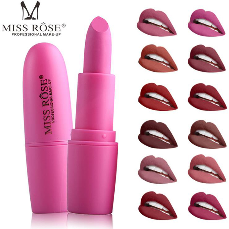 Beauty & Health Honey Miss Rose Nude Lipstick Waterproof Vampire Brown Beauty Baby Lips Batom Matte Lipstick Makeup Tats Eugenie Margherita 22 Colors Beauty Essentials