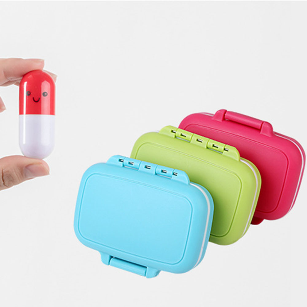 1 Pc Pill Case Box Organizer Portable 7 Days 3 Grids Travel Medical Drugs Tablet Storage Container Box Home Holder Case