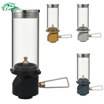 Tábori gázlámpás gáz gyertyafényes lámpa szabadban kempingfelszerelés