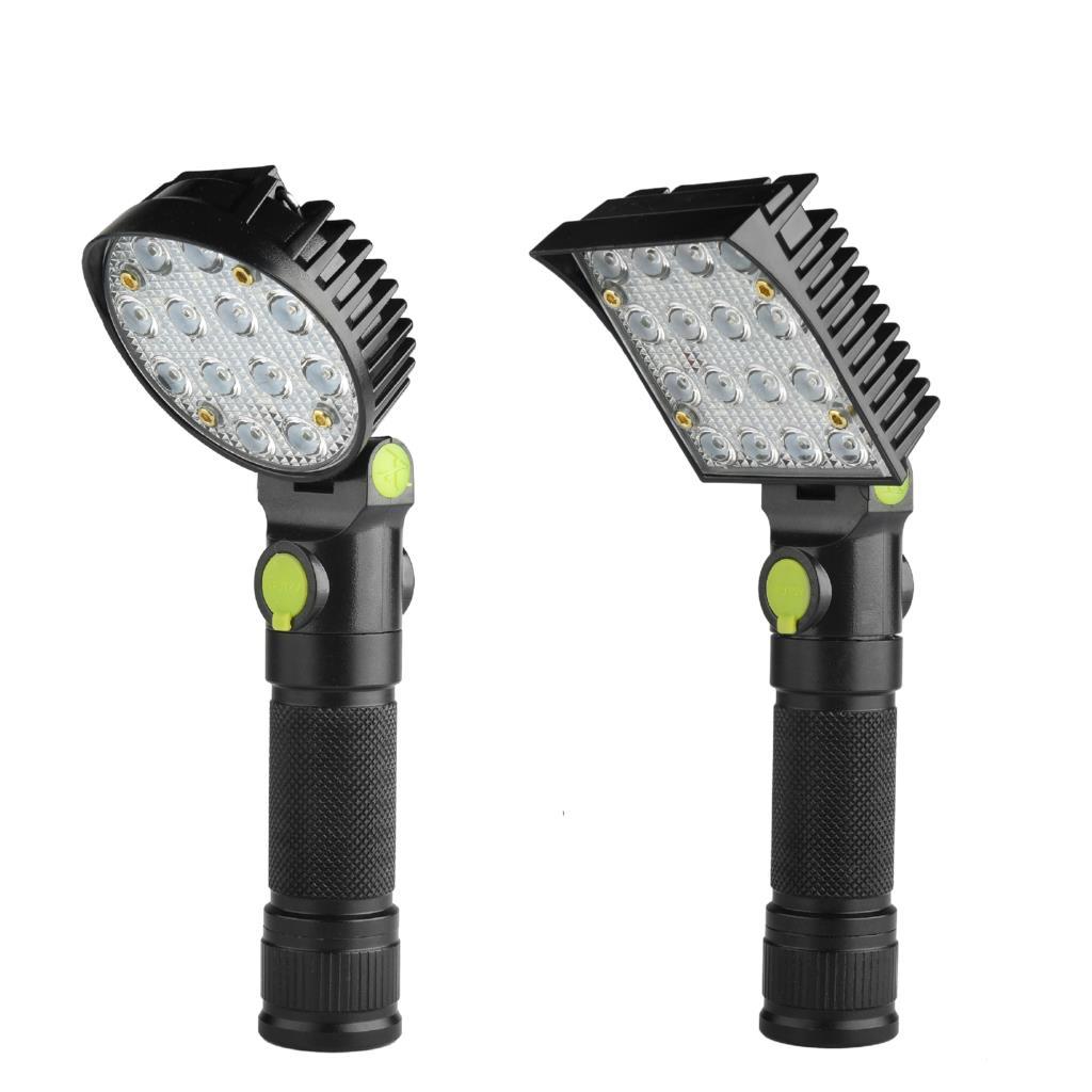 LED Flashlight Usb Cob LED Lantern Powerful Lanterna Torch Tactical LED Zoomable For Hunting Flashlight 18650 Warning Light