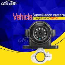 Silver Holder Side Front/ Back View Rear CCD  Analog Vehicle Camera 4 Pin AV Option 600TVL Outdoor Camera For CCTV Security