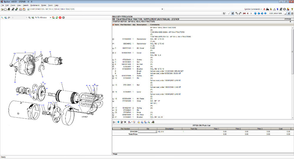 MASSEY FERGUSON Europe Parts Catalog 2015-in Software from ...