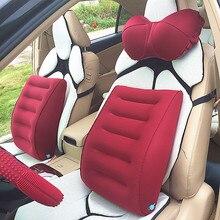 TPU laminated cloth convenient pneumatic car waist cushion to protect lumbar spine receivable type
