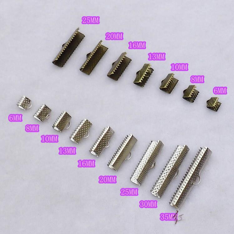 10 New 30mm Over Clip Tips Cord Crimp Ends Bead Caps Connectors