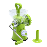 Multipurpose Detachable Manual Meat Mincer Vegetable Grinder Sausage Stuffer Kitchen Tool Stainless Steel Blade Machine