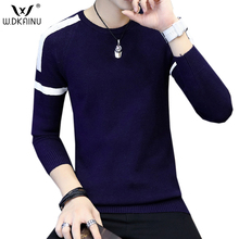 2017 New Autumn Fashion Brand Casual Sweater O-Neck Pullovers Men Pullover Men  Striped Slim Fit Knitting Mens Sweaters