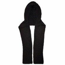 Women Winter Knit Hooded Scarf Headscarf Neck Warmer Hoodie Hat