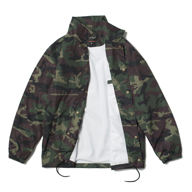 2019ss Coach Jacket Streetwear Clothes Hip Hop Military Black Army Camouflage Vintage Waterproof Tactical Windbreaker For Men