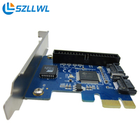 PCI E To SATA Expansion Card Desktop SATA IDE Hard Drive Control Adapter