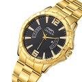 Nueva Marca De Lujo de Hombre Casual Reloj de Cuarzo de Los Hombres reloj de Oro los hombres de acero lleno relojes Reloj de pulsera de Oro Masculino y Femenino mujeres
