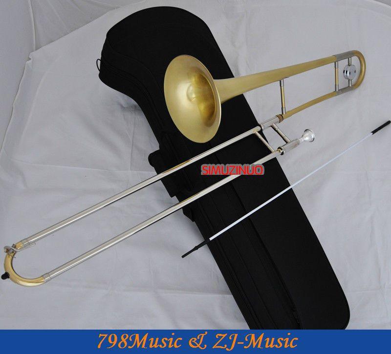 Laiton mat Alto Trombone Cupronickel Glissière Bb Corne Avec Étui