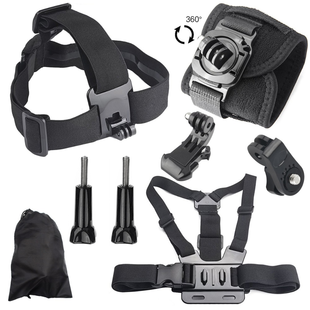 Head Belt flexible Strap Adjustable Chest Mount 360D Rotate wrist StraFor Sony Action Cam for HDR AS20 AS30V AS15V AS200V AS300