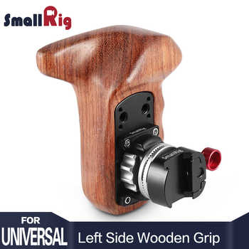 SmallRig Quick Release Camera Handle Left Side Wooden Handle Grip with NATO Mount DSLR Camera Stabilizer Rig 2118 - DISCOUNT ITEM  0% OFF All Category
