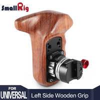 SmallRig Quick Release Camera Handvat Linkerkant Houten Handvat Grip met NATO Mount DSLR Camera Stabilizer Rig 2118