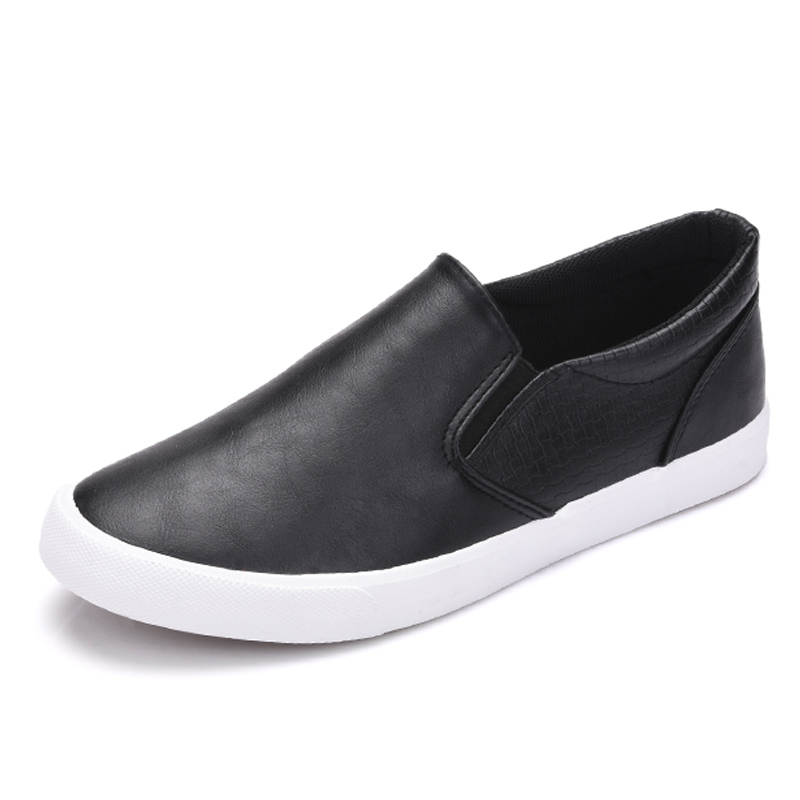 New 2018 High Quality Shoes Men Soft Leather Casual Shoes Menu0026#39;s Loafers Male Brand Shoes Black ...
