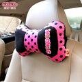 Car-styling Cute Creative  Headrest Pillow Car Seat Support Women Sleep Neck Rest Chaorou Short Plush Cushion Pillow Cute