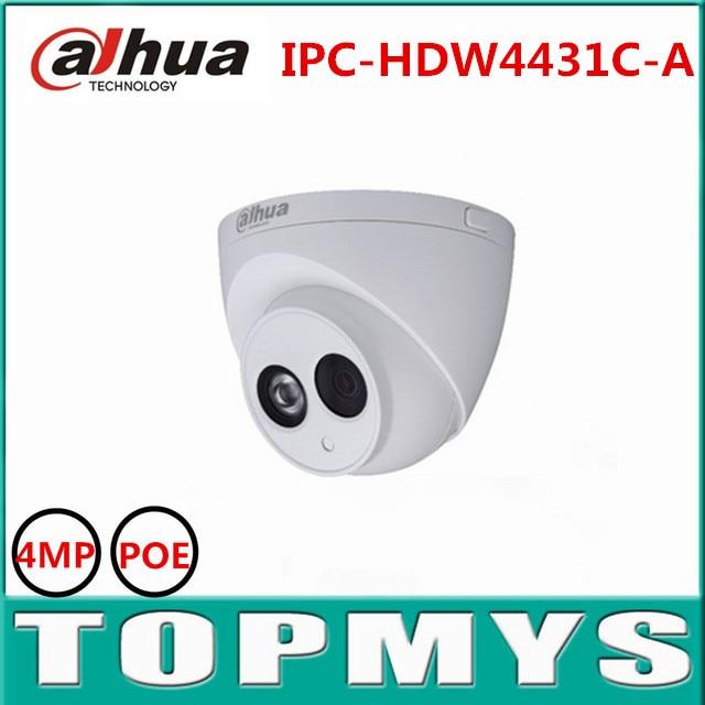 4pcs DaHua IP Camera IPC-HDW4431C-A 4MP POE 1080P Dome IP Camera IR night vision security CCTV ip camera Waterproof IP67 onvif dahua motorized lens 2 7mm to 12mm ip camera ipc hfw2320r zs 3mp poe cctv ip camera ir 30m day night vision security ip camera
