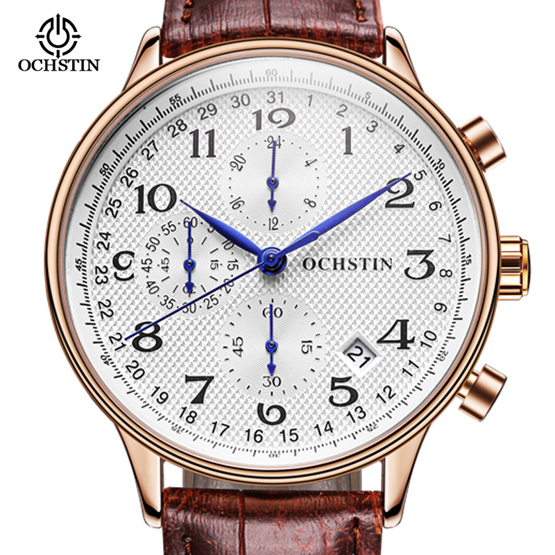 Men Watch Brand OCHSTIN Quartz Watch Men Rose Gold quartz-watch Waterproof Steel Business Military Sport Watch agentx brand auto day display rose gold stainless steel case tag heuerwatch wristwatch men business quartz men watch agx042