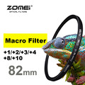New Zomei 82mm Macro Lens +1 +2 +3 +4 +8 +10 Close Up Closeup Filter For Canon Nikon Sony Pentax Hoya SLR DSLR Camera 82 mm lens