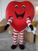 Любовь сердце взрослых Маскоты костюм для фестиваля/День Святого Валентина Бесплатная доставка