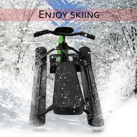 Snow Sled Ski Pad Snowboard Household Snow Racer Strong Safe Brake Snowmobile Steering Wheel Ride On Snow Grass Sand Scooter 09A