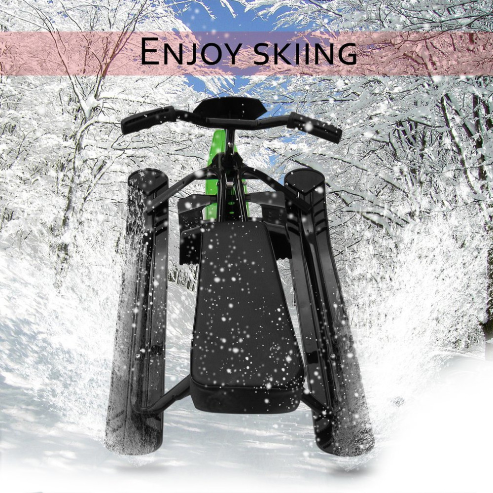 Snow Sled Ski Pad Snowboard Household Snow Racer Strong Safe Brake Snowmobile Steering Wheel Ride On Snow Grass Sand Scooter 09A сноуборд terror snow grass green