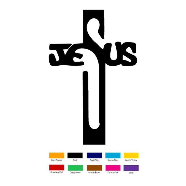 15cm X 10cm Jesus Holy Cross Symbol Car Sticker For Truck Window