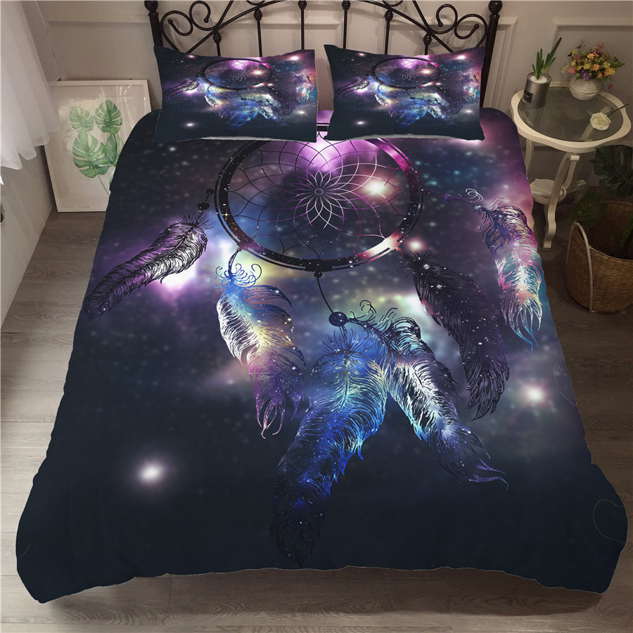 Bedding Set 3D Printed Duvet Cover Bed Set Dreamcatcher Bohemia Home Textiles For Adults Bedclothes With Pillowcase BMW21