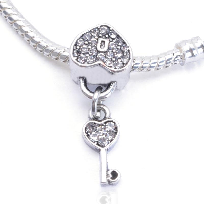 Heart lock design shiny crystal big hole charm beads pendants silver heart lock design shiny crystal big hole charm beads pendants silver plated diy jewelry accessories for bracelet bead jpp148 on aliexpress alibaba aloadofball Gallery