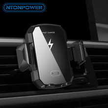 NTONPOWER Qi Car Wireless Charger For iPhone 8/X/Xs Fast Charging for Samsung S9 S10 xiaomi Phone Holder