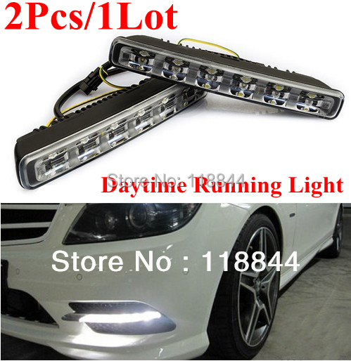 2PCS 6 LED 12W High & Low Beam Car Truck DRL Daytime Running Lights Day Driving Fog Universal Light White Free Shipping brand new universal 40 w 6 inch 12 v led car work light daytime running lights combo light off road 4 x 4 truck light
