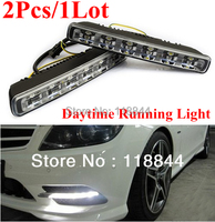 Free Shipping 2PCS 6 LED 12W High Low Beam Car Truck DRL Daytime Running Lights Day