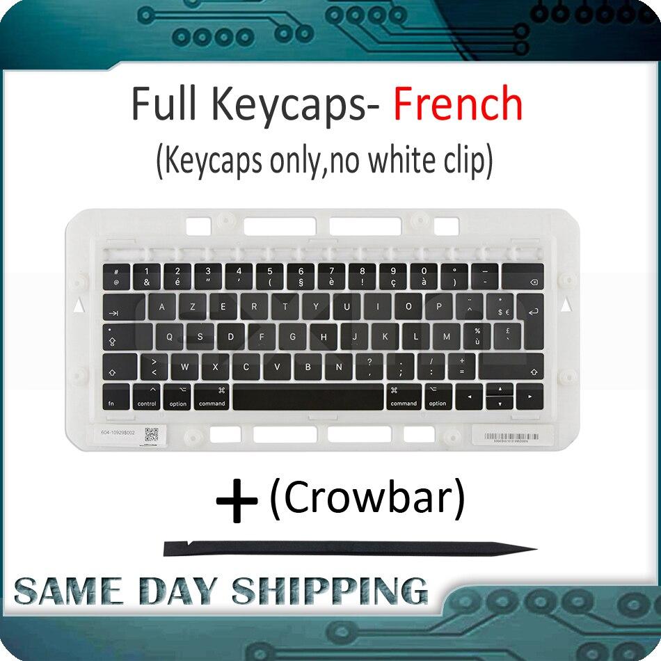"Laptop A1989 A1990 French Keyboard Keycaps Keys key Cap AZERTY FR France for Apple Macbook Pro Retina 13"" 15"" Mid 2018 Year"