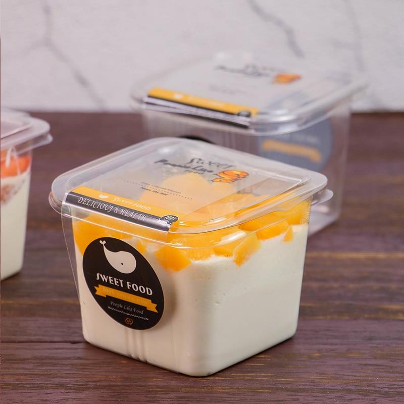 50 Pcs 400ML Clear Plastic Jelly Cups Pudding Cup Dessert Fruit Cake Mousse Yogurt Ice Cream Cup Salad Tiramisu Storage Boxes